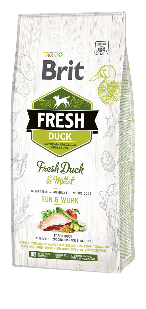 BRIT Fresh Duck with Millet Active Run & Work 12 kg
